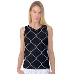 Iron Wire White Black Women s Basketball Tank Top by Mariart
