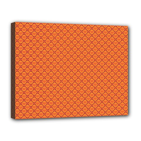 Heart Orange Love Canvas 14  X 11  by Mariart