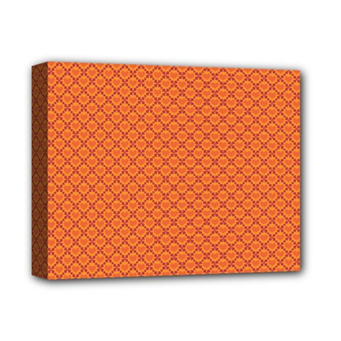 Heart Orange Love Deluxe Canvas 14  X 11  by Mariart