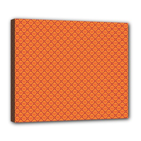 Heart Orange Love Deluxe Canvas 24  X 20   by Mariart