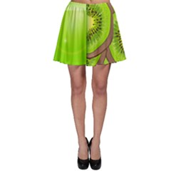 Fruit Slice Kiwi Green Skater Skirt by Mariart