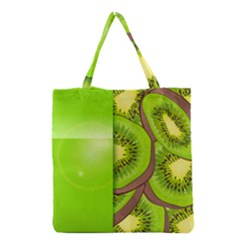 Fruit Slice Kiwi Green Grocery Tote Bag by Mariart