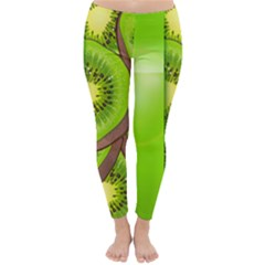 Fruit Slice Kiwi Green Classic Winter Leggings by Mariart