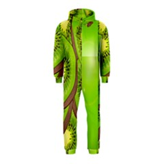 Fruit Slice Kiwi Green Hooded Jumpsuit (kids) by Mariart