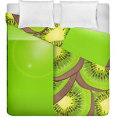 Fruit Slice Kiwi Green Duvet Cover Double Side (king Size) by Mariart
