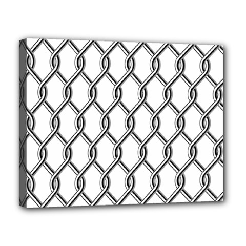 Iron Wire Black White Canvas 14  X 11  by Mariart