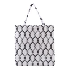 Iron Wire Black White Grocery Tote Bag by Mariart