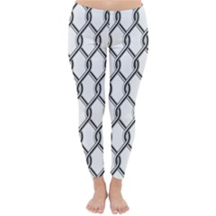 Iron Wire Black White Classic Winter Leggings by Mariart