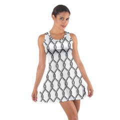 Iron Wire Black White Cotton Racerback Dress by Mariart