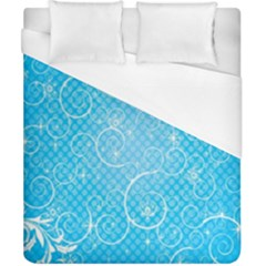 Leaf Blue Snow Circle Polka Star Duvet Cover (california King Size) by Mariart