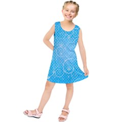 Leaf Blue Snow Circle Polka Star Kids  Tunic Dress by Mariart