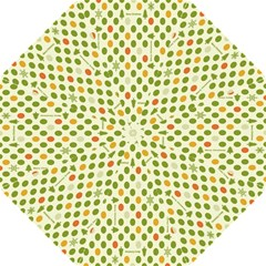 Merry Christmas Polka Dot Circle Snow Tree Green Orange Red Gray Folding Umbrellas by Mariart