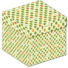 Merry Christmas Polka Dot Circle Snow Tree Green Orange Red Gray Storage Stool 12   by Mariart