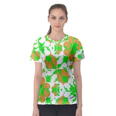 Graphic Floral Seamless Pattern Mosaic Women s Sport Mesh Tee