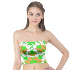 Graphic Floral Seamless Pattern Mosaic Tube Top
