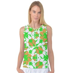 Graphic Floral Seamless Pattern Mosaic Women s Basketball Tank Top