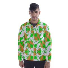 Graphic Floral Seamless Pattern Mosaic Wind Breaker (men)
