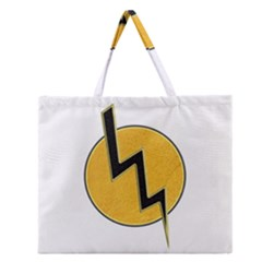 Lightning Bolt Zipper Large Tote Bag