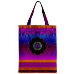 Air And Stars Global With Some Guitars Pop Art Zipper Classic Tote Bag by pepitasart