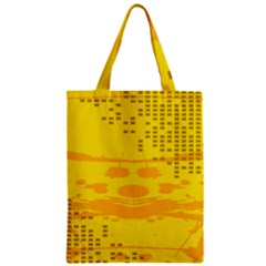 Texture Yellow Abstract Background Zipper Classic Tote Bag by Nexatart