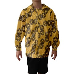 Abstract Shapes Links Design Hooded Wind Breaker (kids) by Nexatart