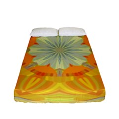 Sunshine Sunny Sun Abstract Yellow Fitted Sheet (full/ Double Size) by Nexatart