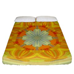Sunshine Sunny Sun Abstract Yellow Fitted Sheet (california King Size) by Nexatart