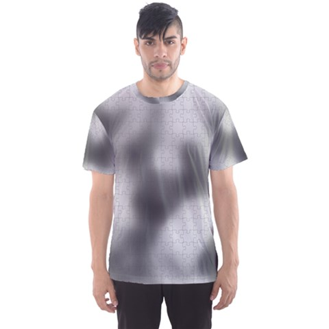 Puzzle Grey Puzzle Piece Drawing Men s Sport Mesh Tee by Nexatart