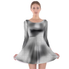 Puzzle Grey Puzzle Piece Drawing Long Sleeve Skater Dress