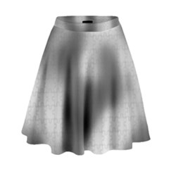 Puzzle Grey Puzzle Piece Drawing High Waist Skirt by Nexatart