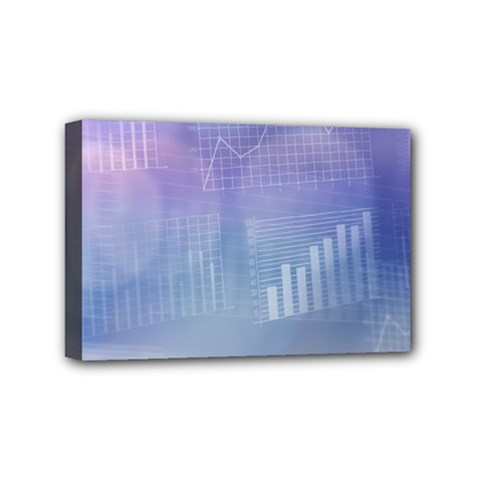 Business Background Blue Corporate Mini Canvas 6  X 4