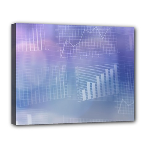 Business Background Blue Corporate Canvas 14  X 11  by Nexatart