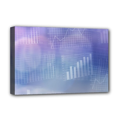 Business Background Blue Corporate Deluxe Canvas 18  X 12   by Nexatart