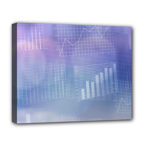 Business Background Blue Corporate Deluxe Canvas 20  X 16   by Nexatart