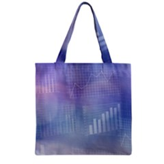 Business Background Blue Corporate Grocery Tote Bag by Nexatart