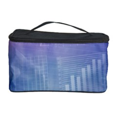Business Background Blue Corporate Cosmetic Storage Case