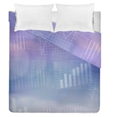 Business Background Blue Corporate Duvet Cover Double Side (queen Size)