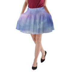 Business Background Blue Corporate A-line Pocket Skirt by Nexatart