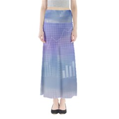 Business Background Blue Corporate Maxi Skirts by Nexatart