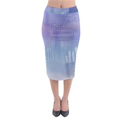 Business Background Blue Corporate Midi Pencil Skirt by Nexatart