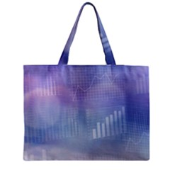 Business Background Blue Corporate Medium Zipper Tote Bag by Nexatart