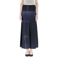 Abstract Dark Stylish Background Maxi Skirts