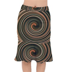 Strudel Spiral Eddy Background Mermaid Skirt
