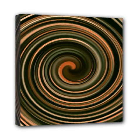 Strudel Spiral Eddy Background Mini Canvas 8  X 8  by Nexatart