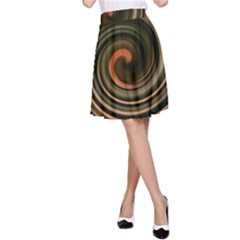 Strudel Spiral Eddy Background A Line Skirt by Nexatart
