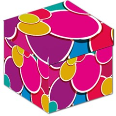 Paint Circle Red Pink Yellow Blue Green Polka Storage Stool 12   by Mariart