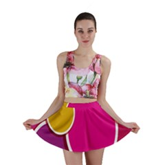 Paint Circle Red Pink Yellow Blue Green Polka Mini Skirt by Mariart