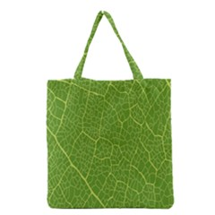 Green Leaf Line Grocery Tote Bag by Mariart