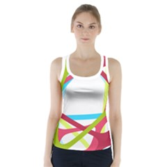 Nets Network Green Red Blue Line Racer Back Sports Top by Mariart