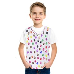 Paw Prints Dog Cat Color Rainbow Animals Kids  Sportswear